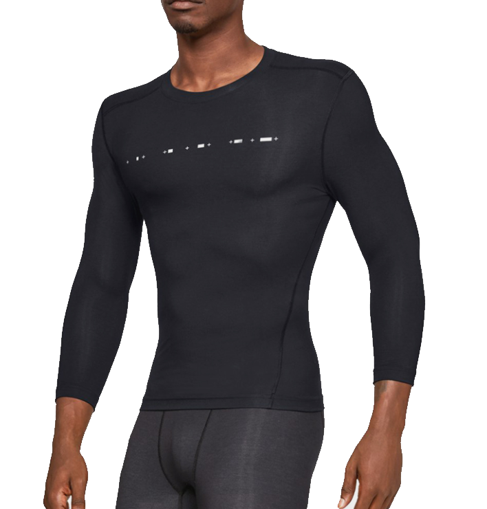 Camiseta de compresión Under Armour Recovery Compression 3/4 Sleeve-BLK
